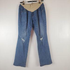Indigo Blue | Maternity - elastic band jeans